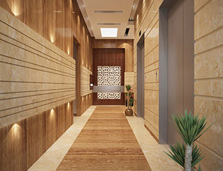 Elegant and Modern Lift Lobby creates a huge feeling as you enter your premise