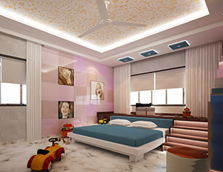 Children Bed Room designed  for young toddlers
